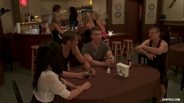 Naughty Sluts get Fucked by Three Guys in a Bar HD Porn 7e