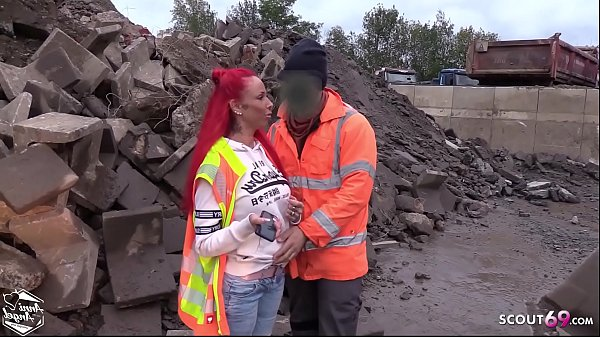 Strange Worker Seduce German Redhead Teen Bareback Outdoor