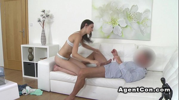 Babe doing blowjob so well in casting