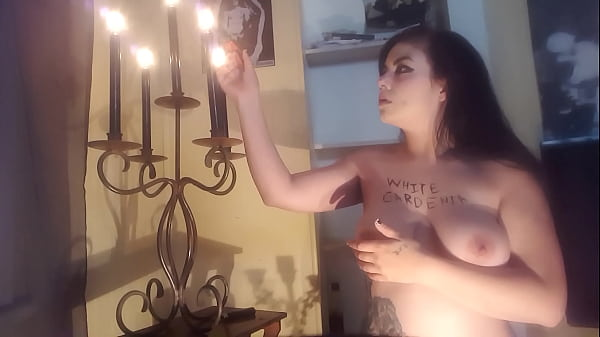 Revised / Higher Resolution Version- White Gardenia Hot Girl Cuts Her Breasts Cleavage ( Painful Hot Girl Sadomasochism Halloween Massive Titties Boobs Strange S&M