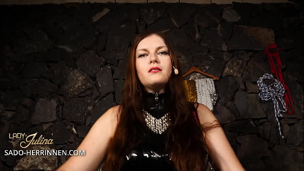 Become Lady Julina's latex slave and strapon sucker Thumb
