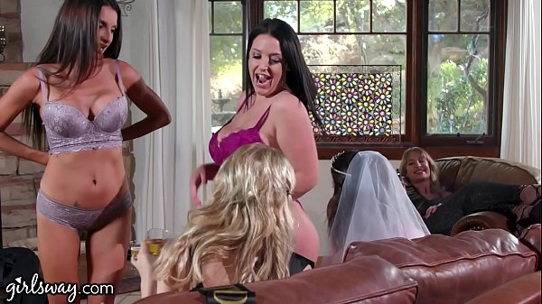 GIRLSWAY Angela White Turns This Bachelorette Party Into A Foursome Thumb