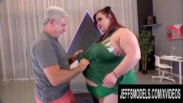 Helping SSBBW Ashley Garland Strip Before Watching Her Masturbate