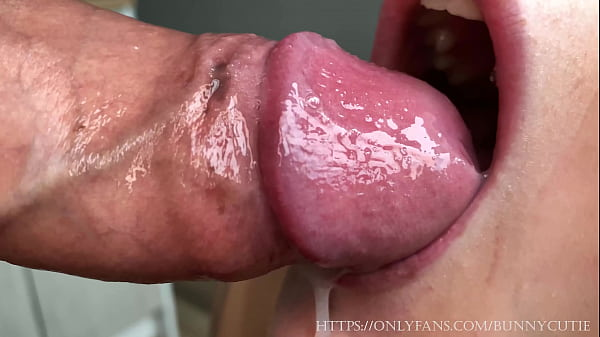 Ultra Close-Up Slobber Blowjob With Huge Cumshot! 4K