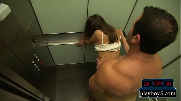 Horny mature couple having quickie sex in a public elevator Thumb