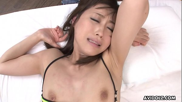 Japanese fuck doll, Saki Aiba had a steamy threesome, uncensored