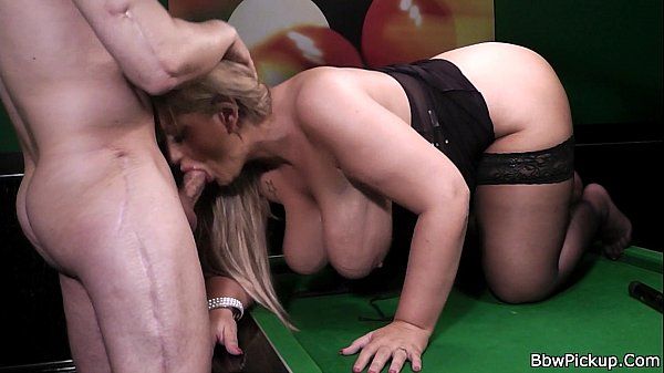 Hottest chubby blonde in black stockings Thumb