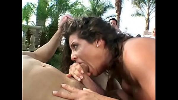 Brunette MILF taking cocks