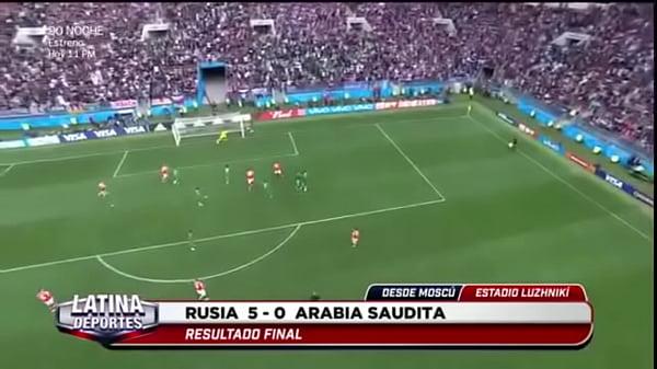 RUSIA v. A ARABIA EN EL MUNDIAL CON 5 GOLES :V