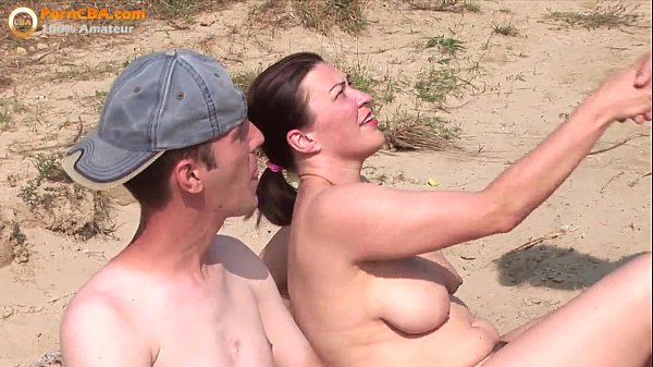 Real amateur threesome on the beach Thumb