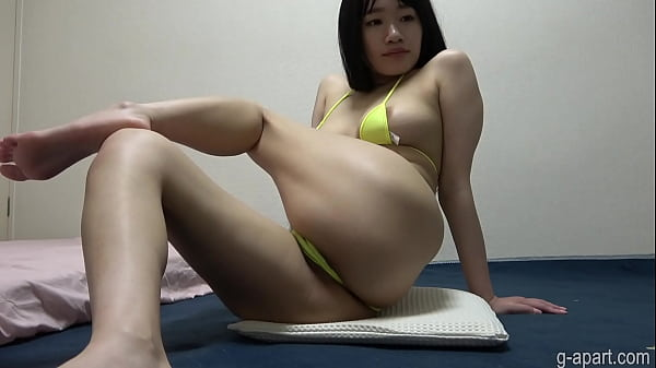 Japanese Girl Yua in String Bikini Tiny Thong Wedgie Thumb