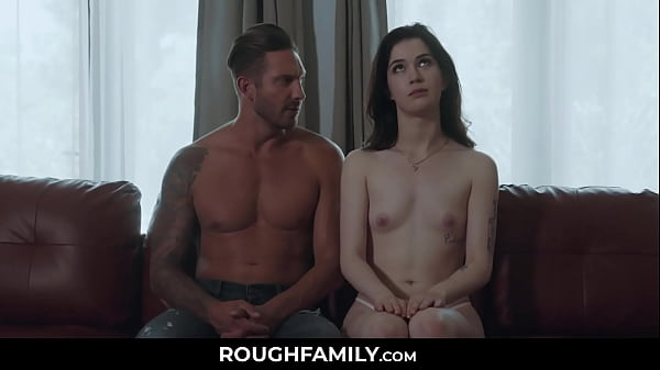 Stepdaughter Studying with her Daddy - RoughFamily.com Thumb