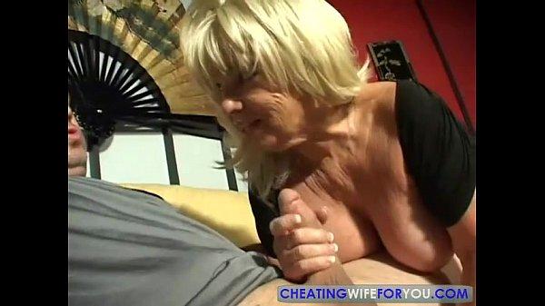 Big Tits Boobs Blonde Mature Milf Blowjob