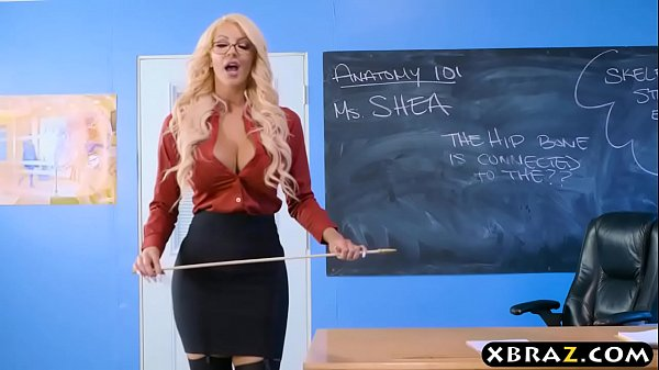 Immens curves teacher blonde fucks her student in class Thumb