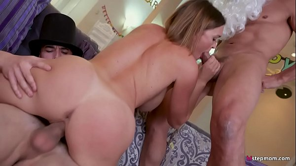 Horny but Unsatisfied Wife finds Capable Young Dick instead of Husband's in a Threesome Thumb