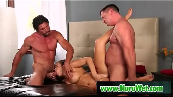 Eric Masterson and Tommy Gunn sharing a busty milf Thumb