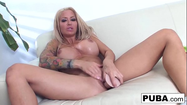 Hot Helly Hellfire deep throats and toy then plays with herself