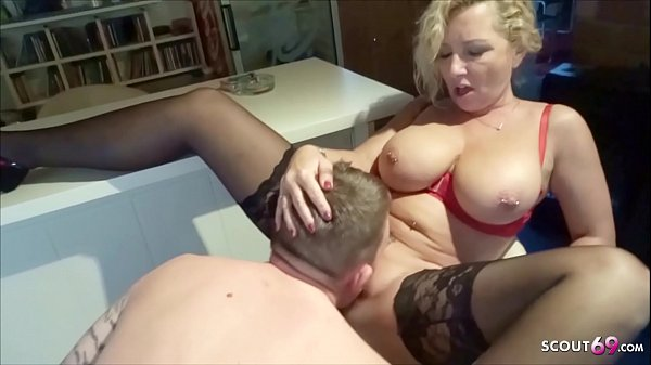 German Big natural Tits Mom First Fun with Step...