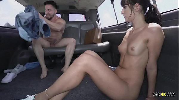 Picked up on the street for money like the whore she is - Dana Wolf banged in a van