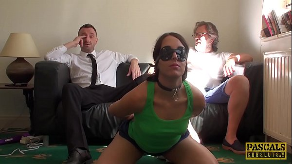 Blindfolded sub Liz Rainbow c. and destroyed by Pascal