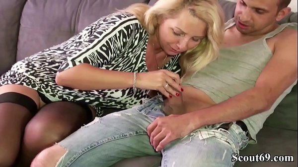 German Big Tits MILF seduce Friend of Son to Fuck her