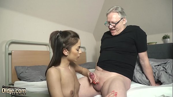 First time deepthroat blowjob for a grandpa from a young girl Thumb