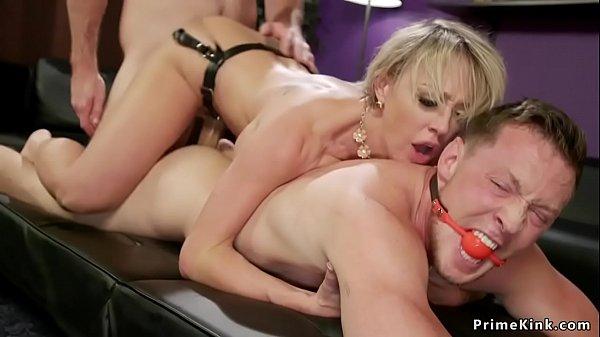 Cuckold hubby gets busty wife banged Thumb