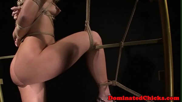 Bondage submissive assfucked until cumshot