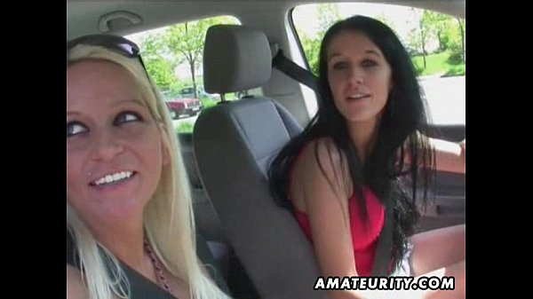 2 hot amateur sluts in an outdoor group sex action
