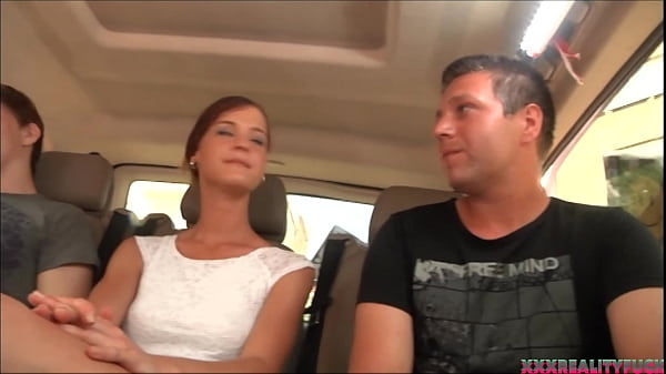 Big reality fuck orgy in the bus driving around, two hottie and two amateur dudes