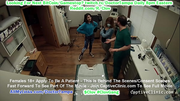 CLOV Doctor Tampa strip searches sisters Alexa Rydell and Maria Santos head to toe in front of each other @Doctor-Tampa.com
