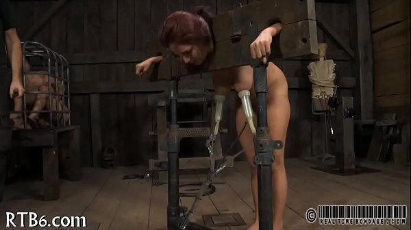 Tying up gal for wild torment