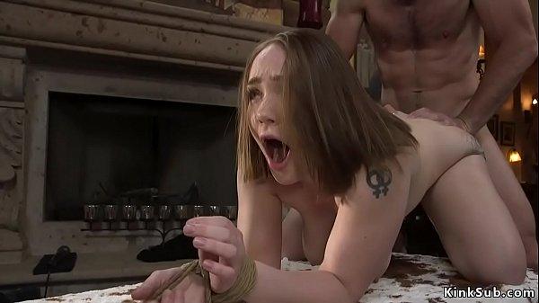 Big booty hostage is fucked in bondage