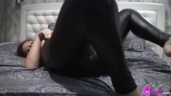 Lusty beauty fingers her wet pussy hard