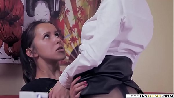 LesbianCUMS.com ⇨ Smoking Lesbian College Strapon Fucked by Teacher
