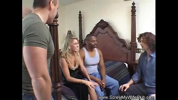 Blonde MILF Swinger Rough Anal Tryout