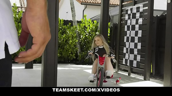 ExxxtraSmall - Petite Blonde Harlow West In Drage-Race Girl Costume Rides Big Dick Thumb