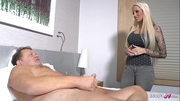 German Niece Caught old Step Uncle Jurgen Jerk and Help with Rough Sex
