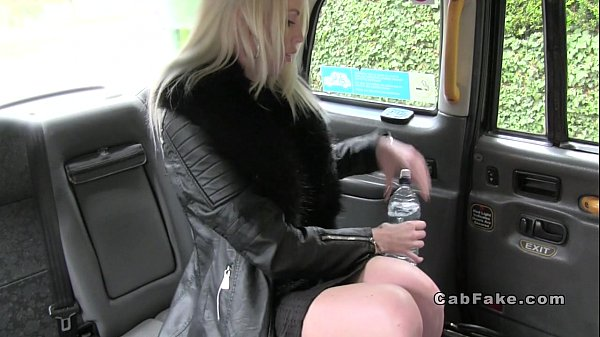 Blonde amateur anal fucked in fake cab  thumbnail