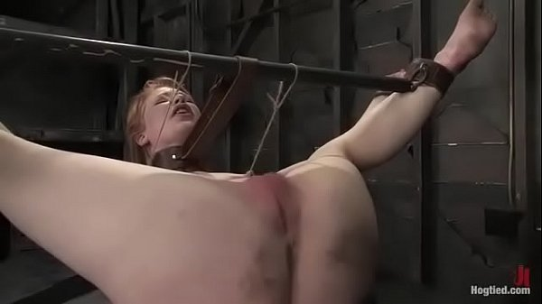 INTENSE: Madison is tightly bound and pushed to the limits with hardest pussy flogging