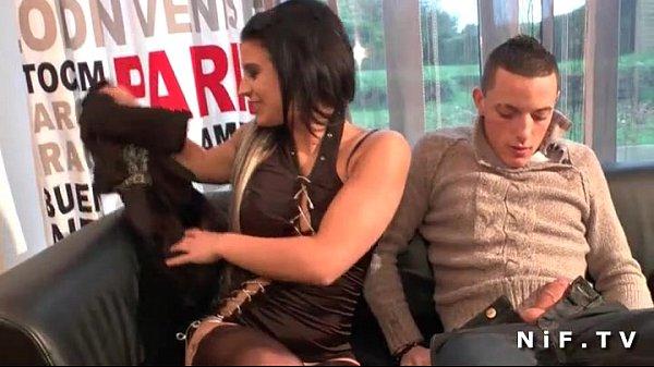 Black haired french girl banged hard