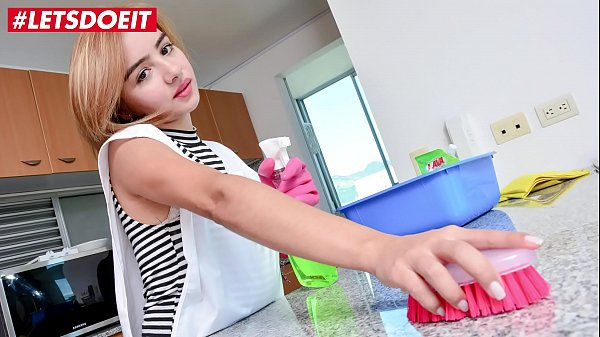 MAMACITAZ - Innocent Latina Maid Julia Garcia Strips Down & Fucks Client