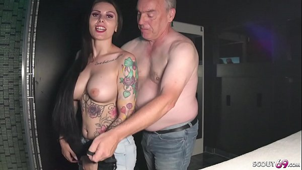 German Big Tits Teen Xania Wet in 2 real Fan Fuck Dates with old Man Thumb