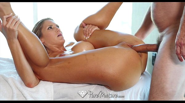 PURE MATURE Sexy blonde Audrey Irons hot massage