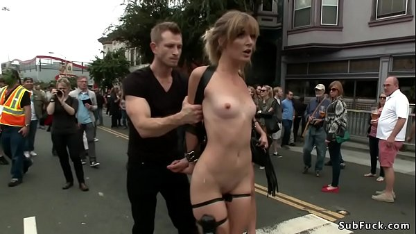 Blonde is anal fucked in public Thumb