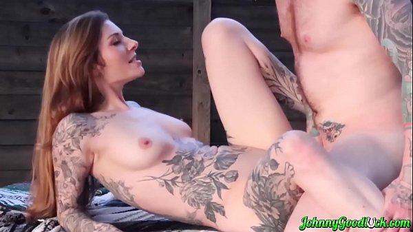 JOHNNYGOODLUCK Tattoo Babe Penny Archer Eaten O...