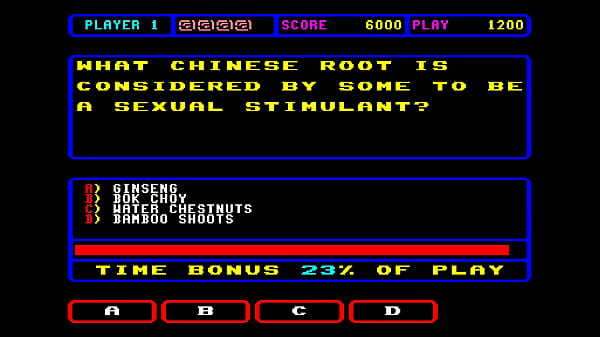 ARCADE MACHINES MAME NEW SEXUAL TRIVIA C FROM TEN GAME TRIVIA GAMES 25 4X US GAMES 1992