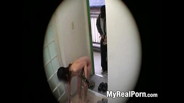 Japanese wife flashing delivery guy 4