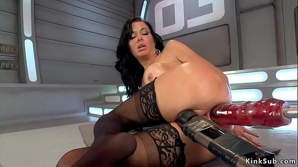 Busty takes monster machine up ass
