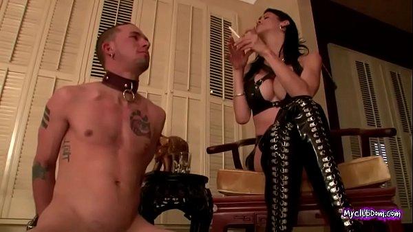 Mistress Paula Slaps Her Slave  thumbnail